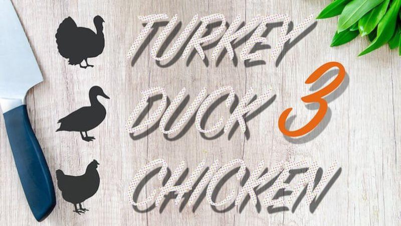 Turkey Duck Chicken Three