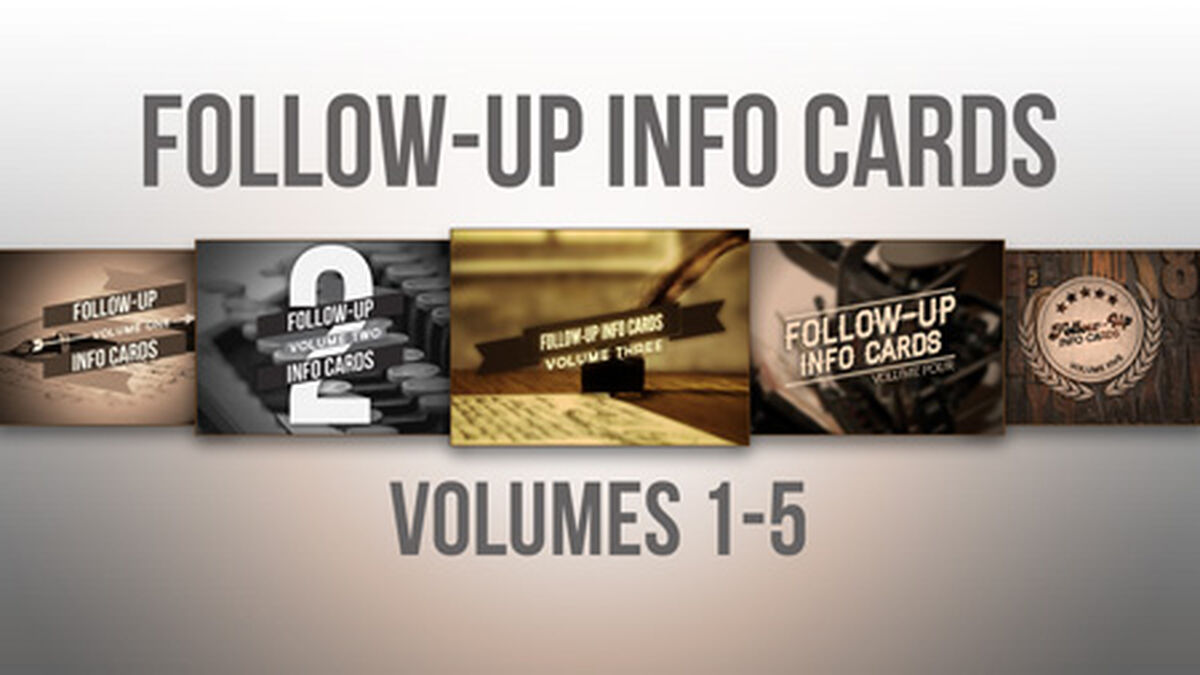 Follow Up Info Cards Bundle image number null