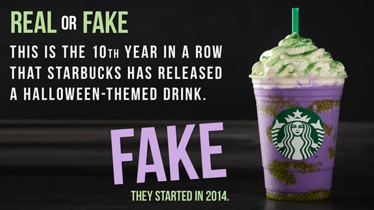 REAL OR FAKE: Witch's Brew Frappuccino Edition image number null