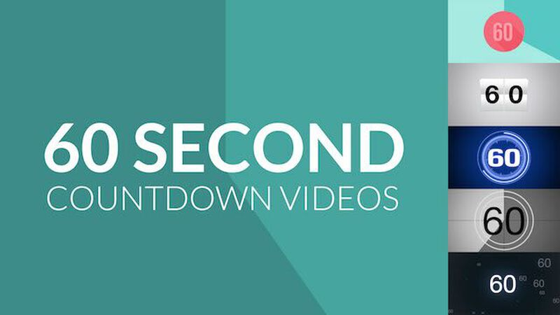 Five 60-Second Countdown Videos