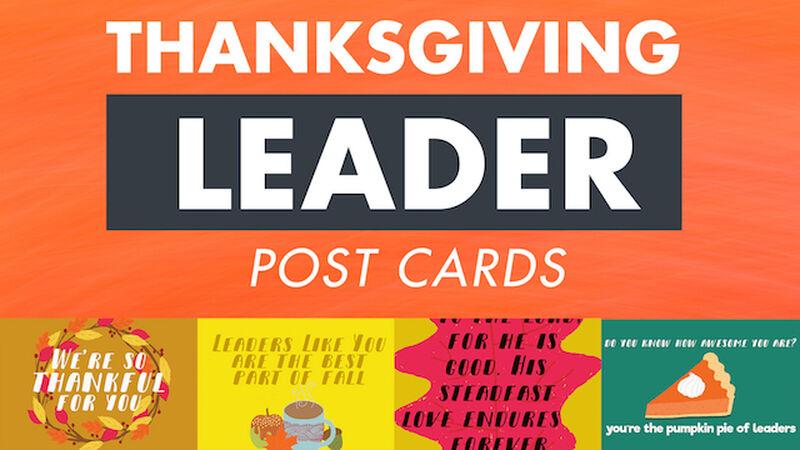 "Thanksgiving Leader ""Thank You"" Postcards"