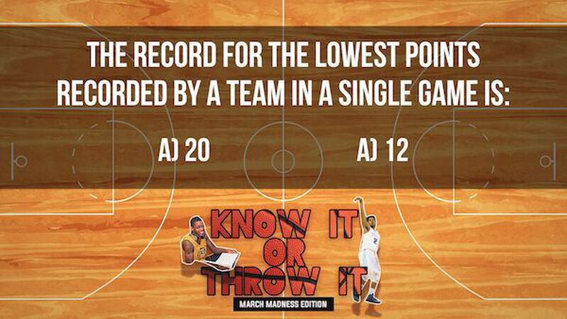 Know it or Throw it: March Madness Edition