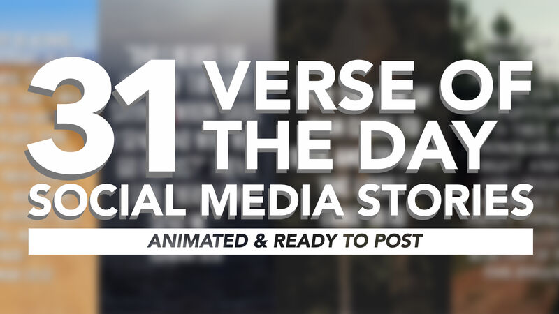 31 Verse of the Day Social Media Stories