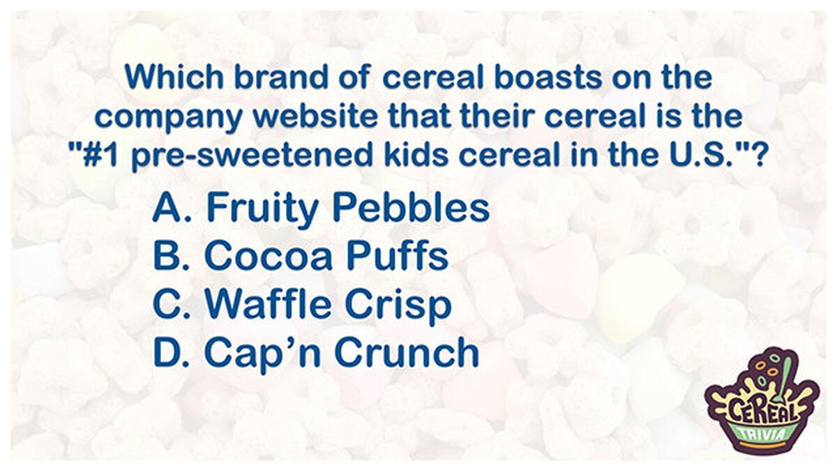 Cereal Trivia image number null