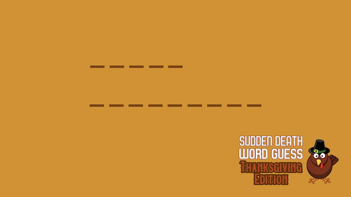 Sudden Death Word Guess Thanksgiving Edition image number null