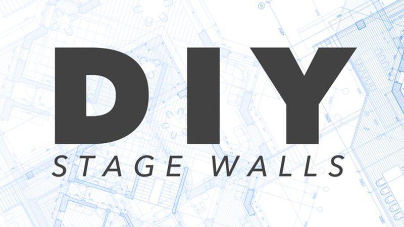 DIY: Portable Stage Wall Pieces