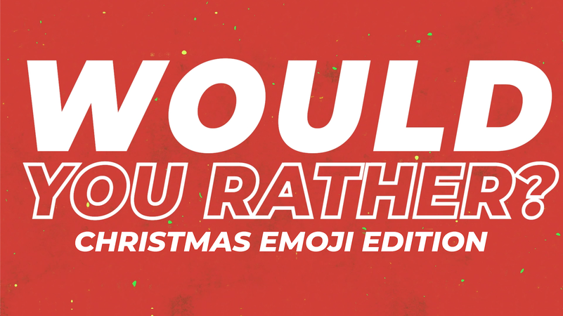 Would You Rather Video And Countdown Christmas Emoji Edition