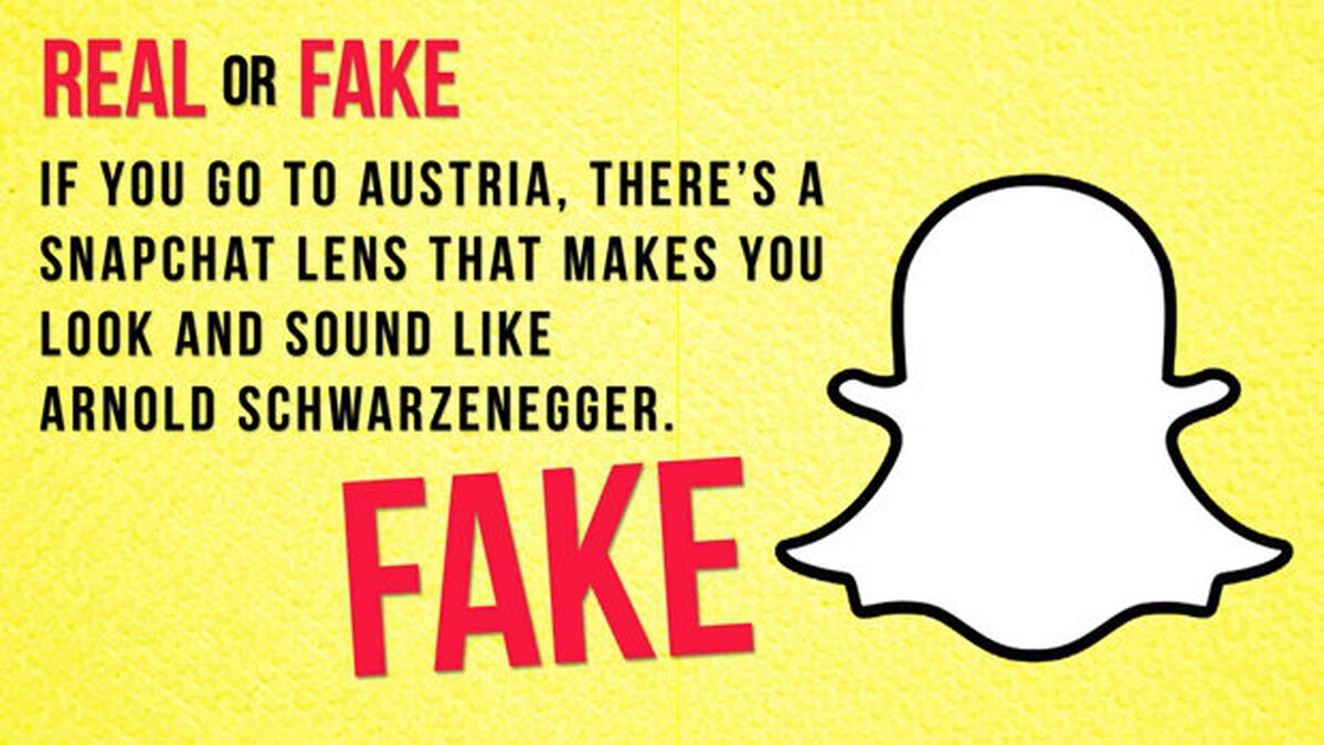 Real/Fake: Snapchat Edition image number null