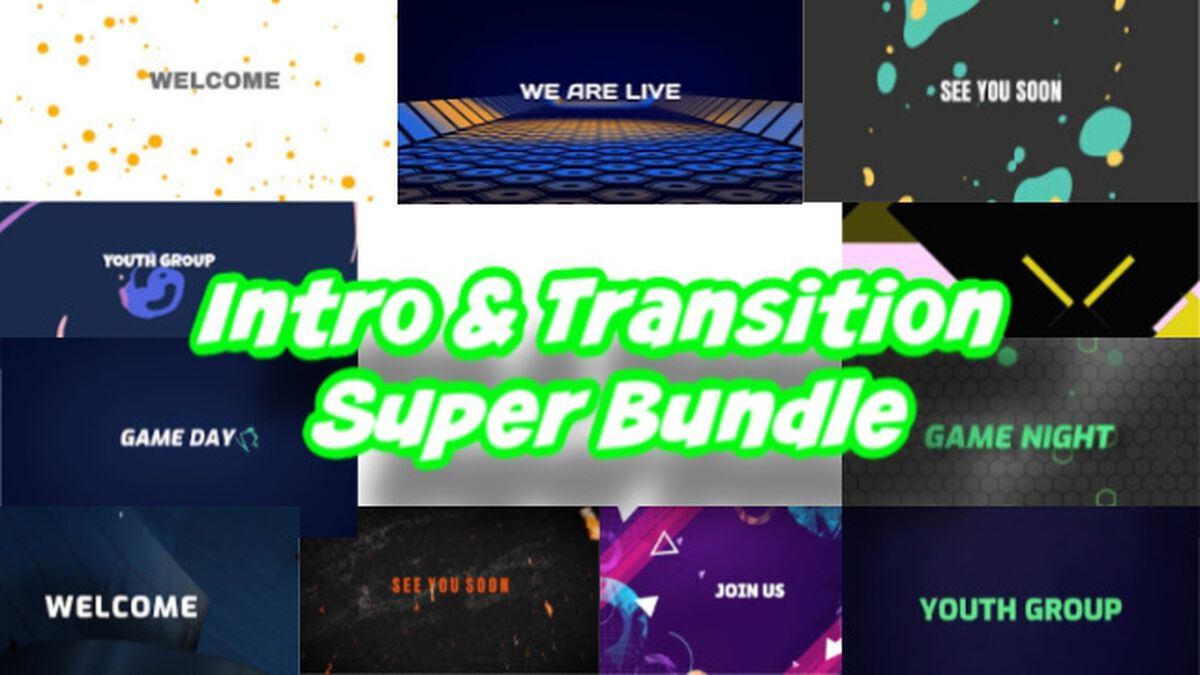 Intro and Transition Video Super Bundle image number null