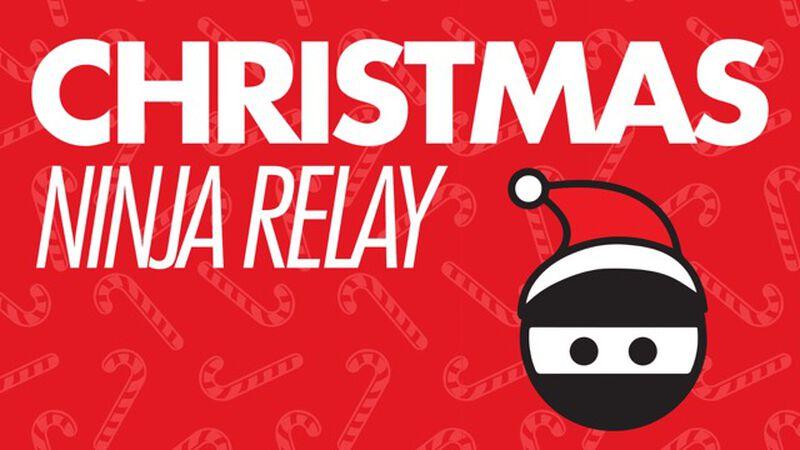 Christmas Ninja Serve Relay