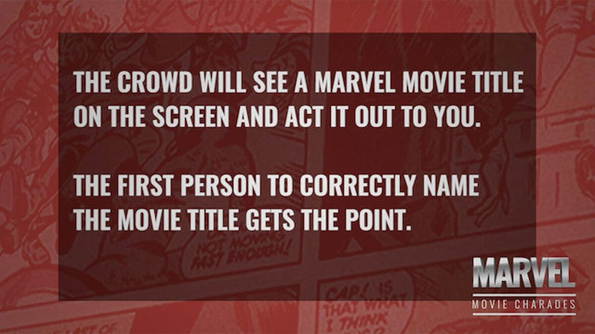 Marvel Movie Charades image number null