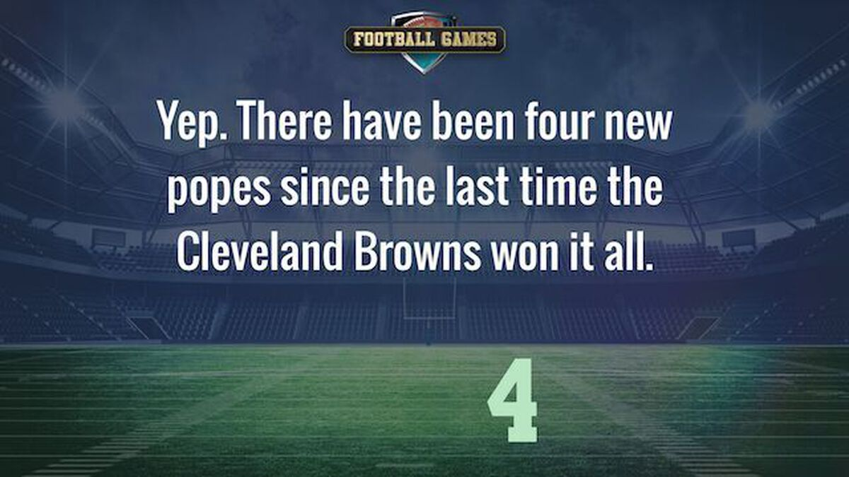 The Last Time the Cleveland Browns Won... image number null