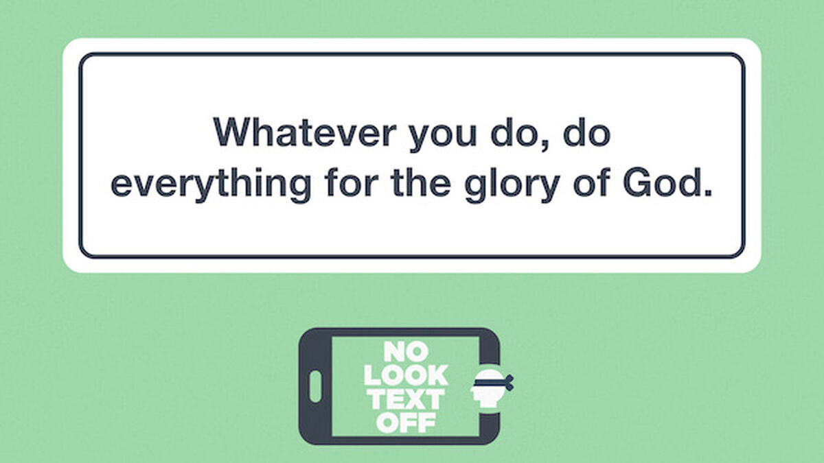 No Look Text Off – Bible Edition image number null