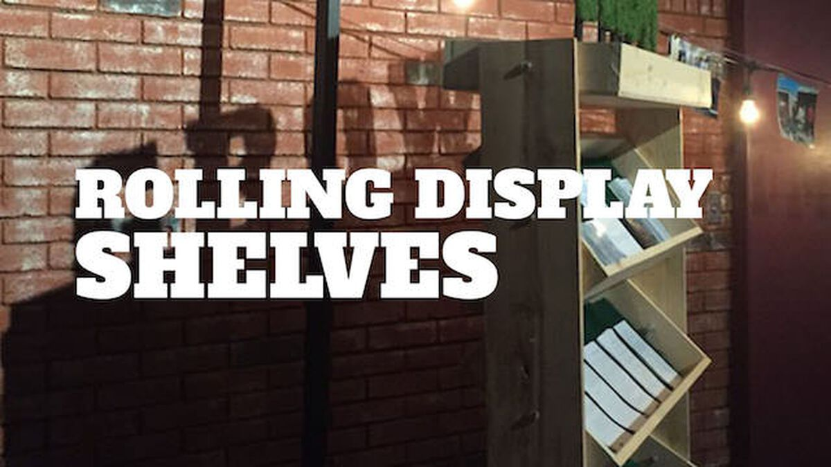 DIY Rolling Display Shelves image number null