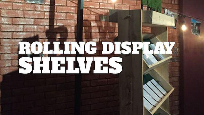 DIY Rolling Display Shelves