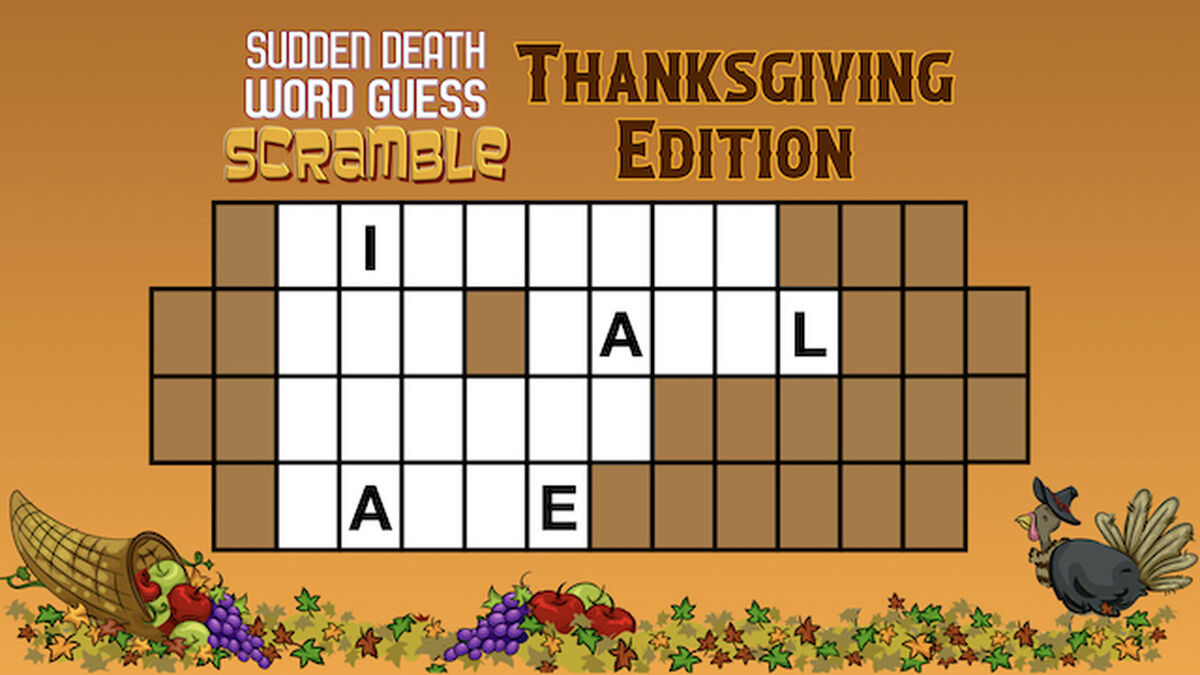 Sudden Death Word Guess Scramble Thanksgiving Edition image number null