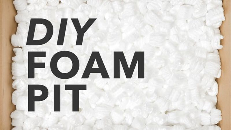 DIY: Packing Peanut Foam Pit Plans