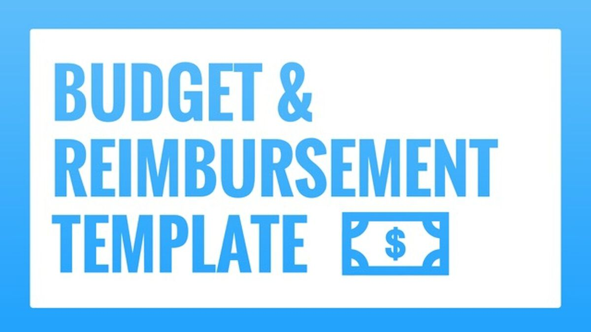 Budget and Reimbursement Template image number null