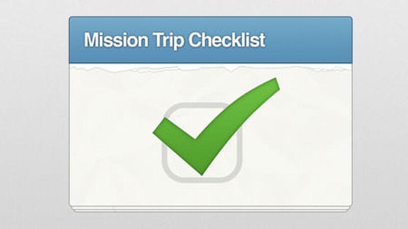 Mission Trip Checklist