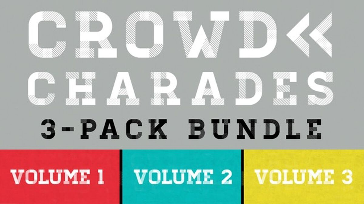 Crowd Charades: 3-Pack Game Bundle image number null
