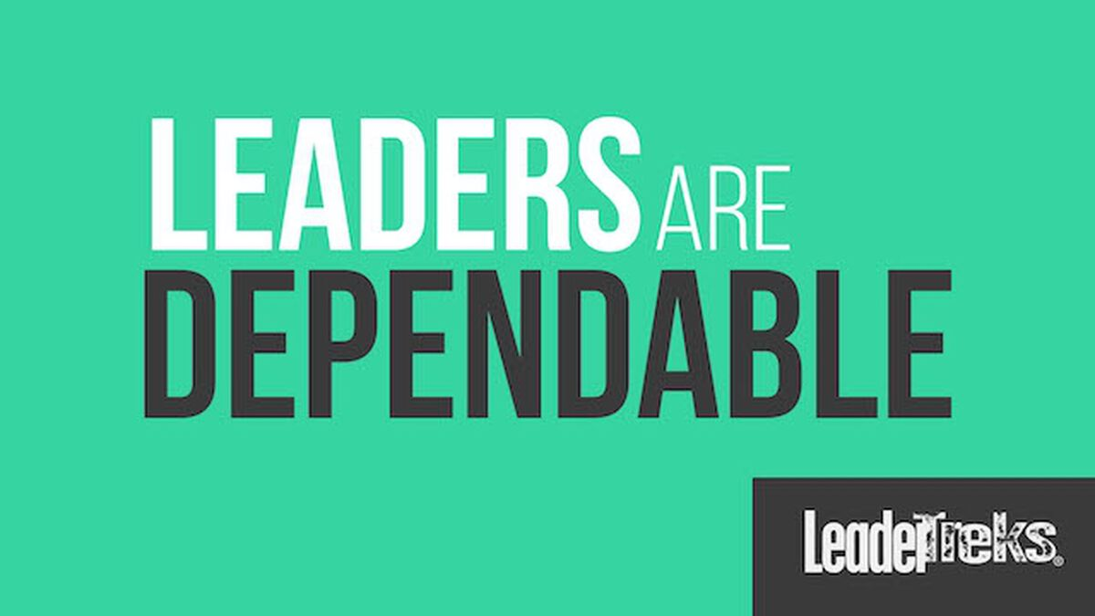 Leaders Are Dependable image number null