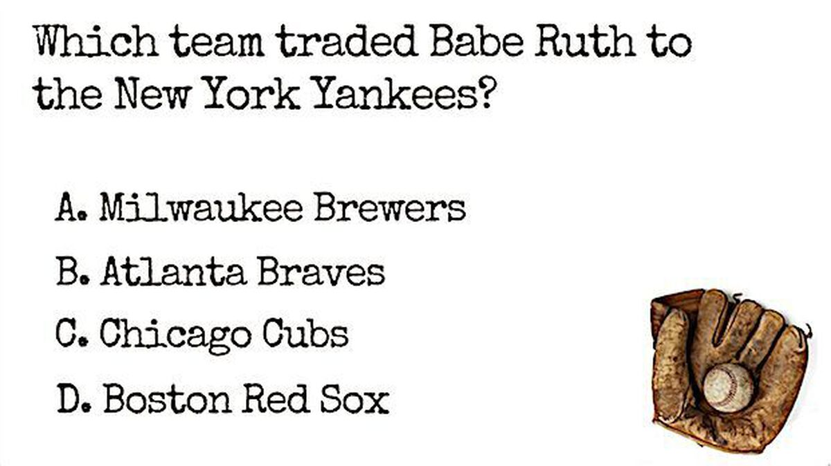 Baseball Trivia image number null