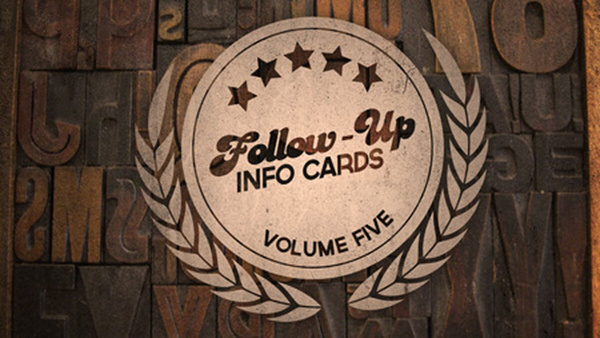 Follow Up Info Cards: Vol 5 image number null