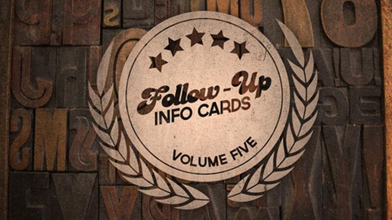 Follow Up Info Cards: Vol 5