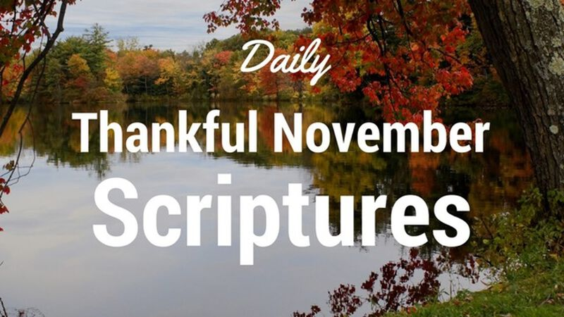 Daily Thankful Scriptures - 31 Day Social Media Package