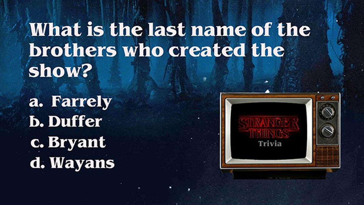 Stranger Things Trivia image number null
