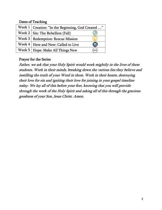 Gospel Timeline 5-week Small Group Series image number null