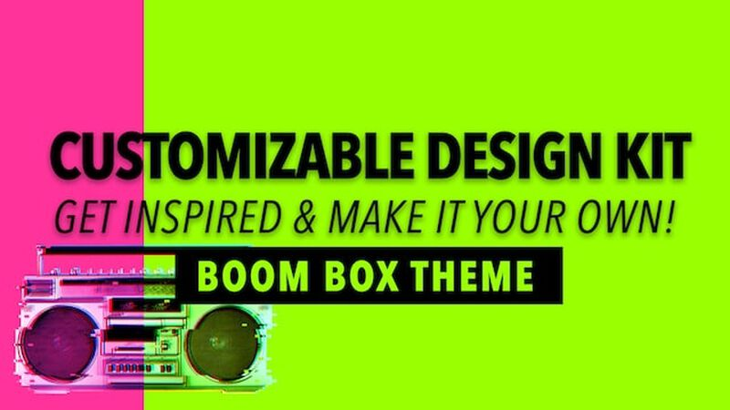 Customizable Design Kit: Boombox Theme