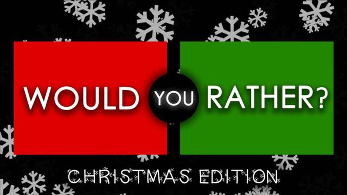 Would You Rather Icebreaker Christmas Edition image number null
