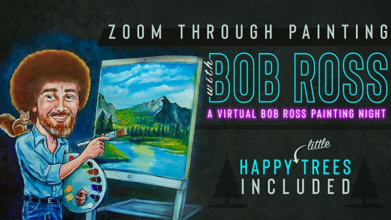 Zoom Through Painting with Bob Ross