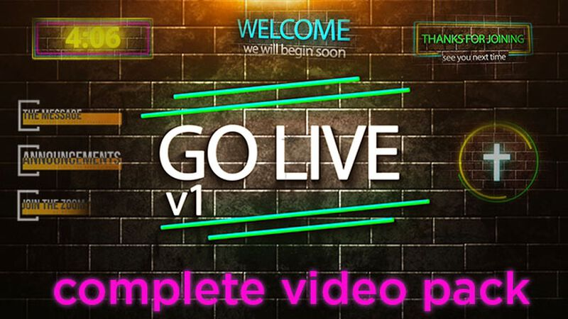 Go Live - Video Stream Pack