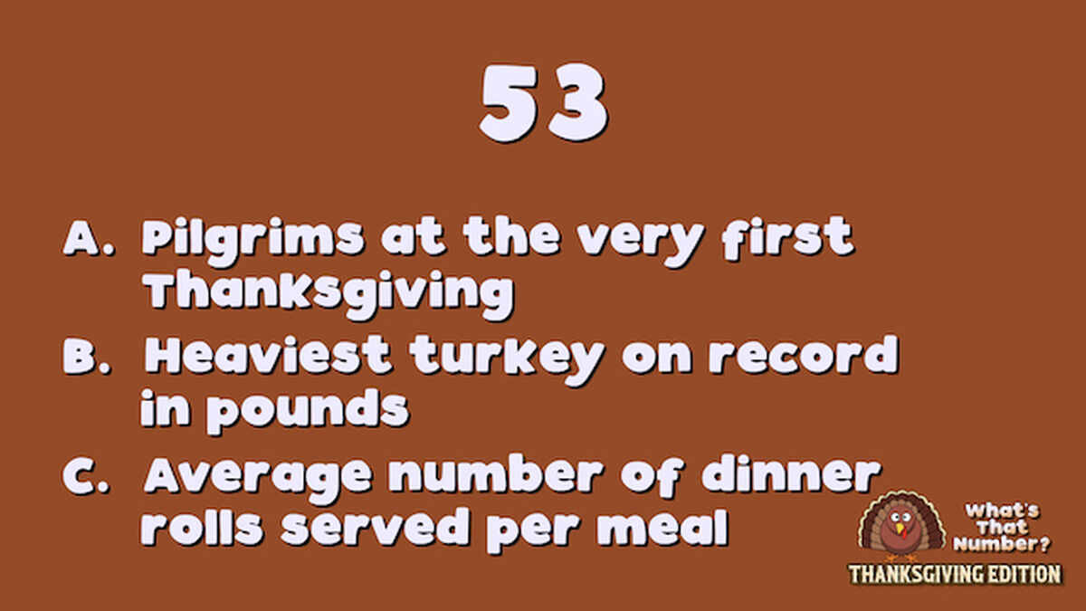 What's That Number? Thanksgiving Edition image number null