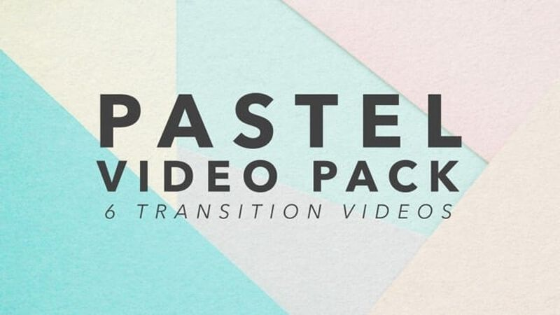 Pastel Video Transition Video Pack