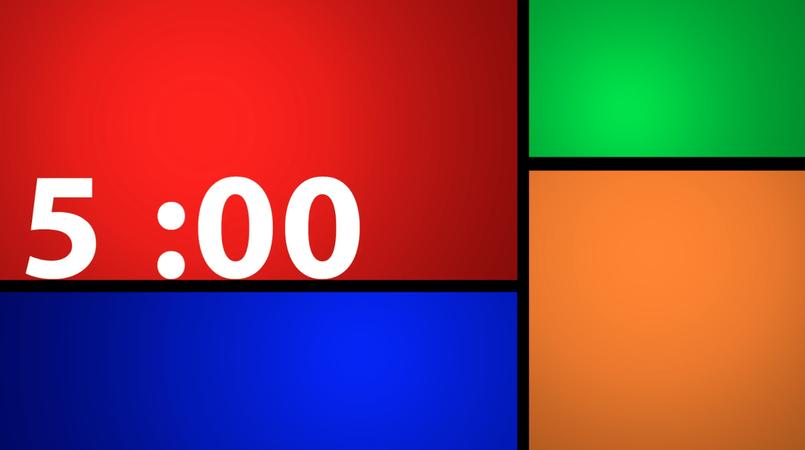 Color Windows Countdown Clock