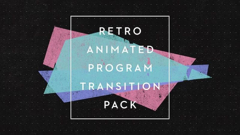 Retro Animated Program Video Transition Pack