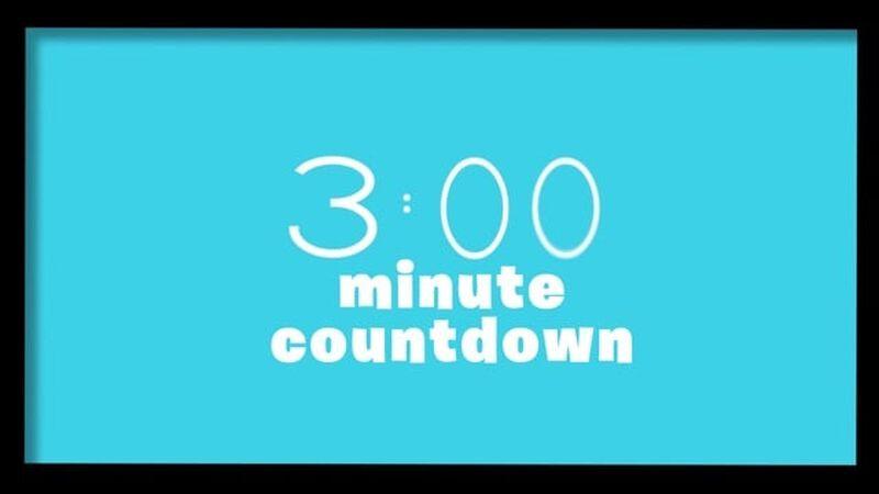 3-Minute Countdown
