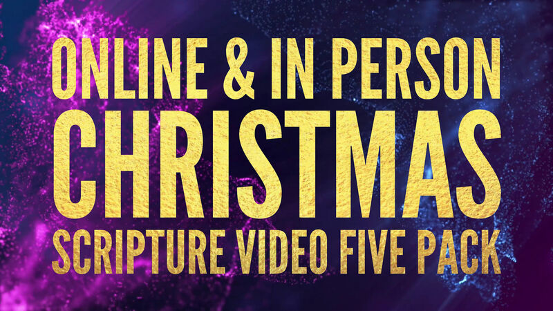 Christmas Scripture Video Five Pack