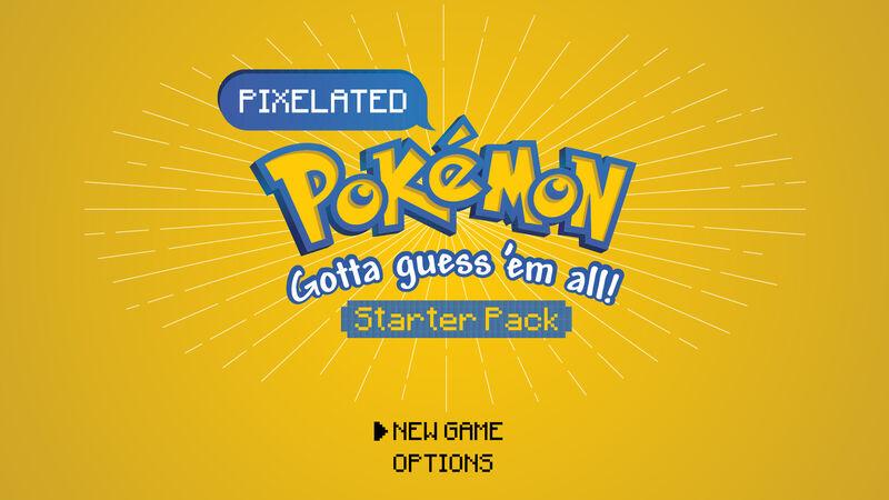 Pixelated Pokemon Game