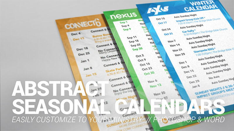 4x6 Abstract Calendars
