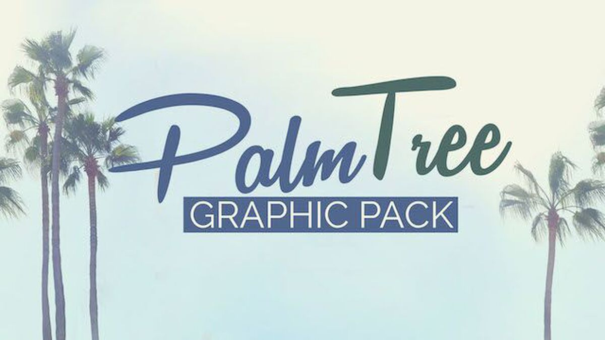 Palm Tree Graphic Pack image number null