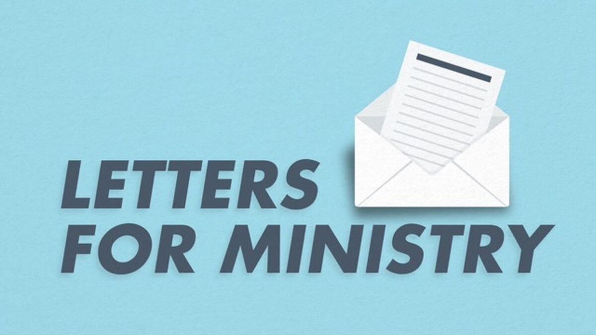 Letters for Ministry image number null