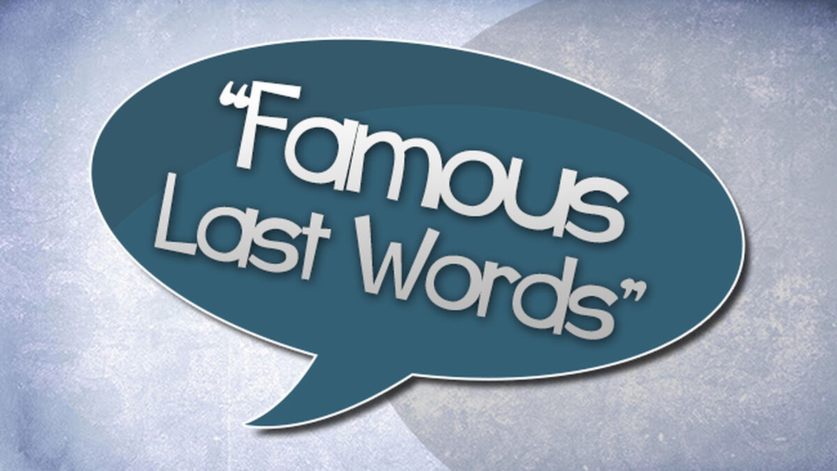 Famous Last Words image number null