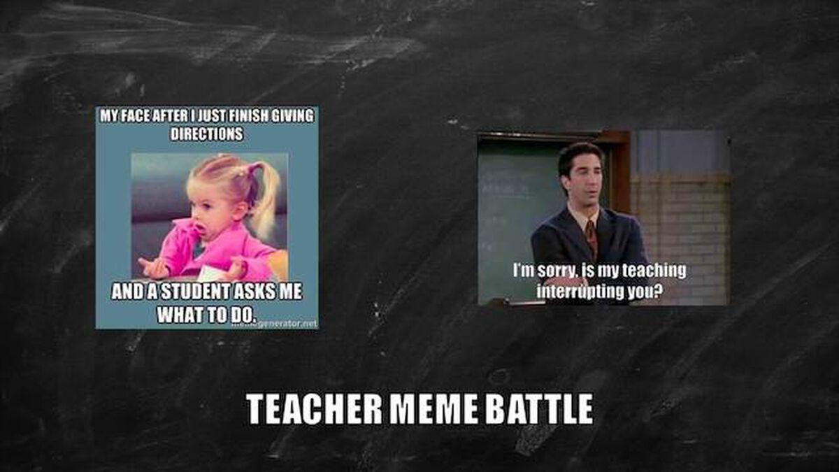 Teacher Meme Battle image number null