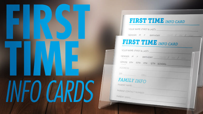 First Time Info Cards