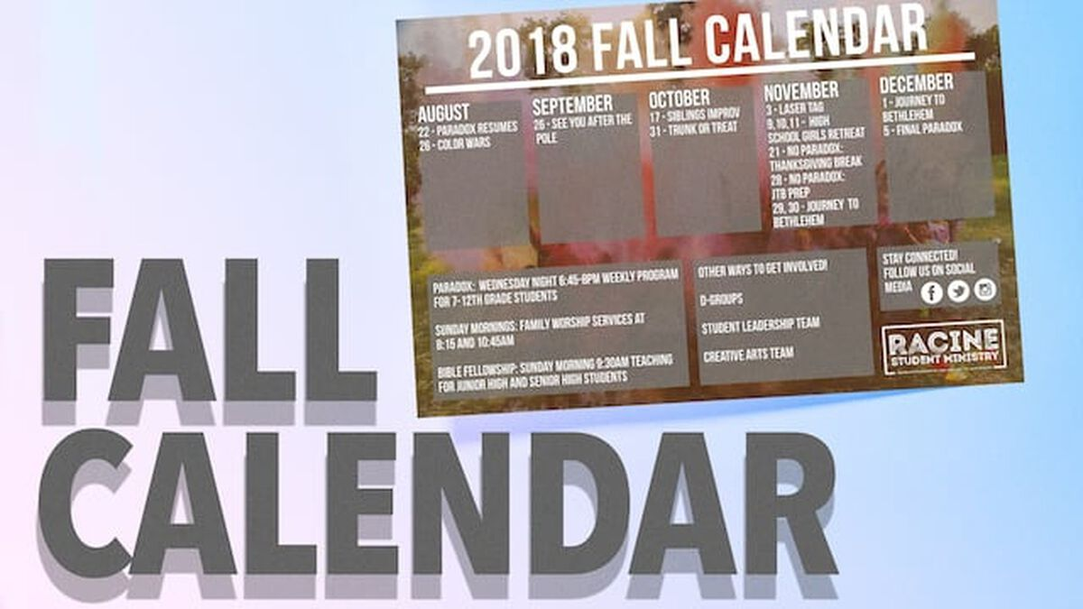 Fall Calendar image number null