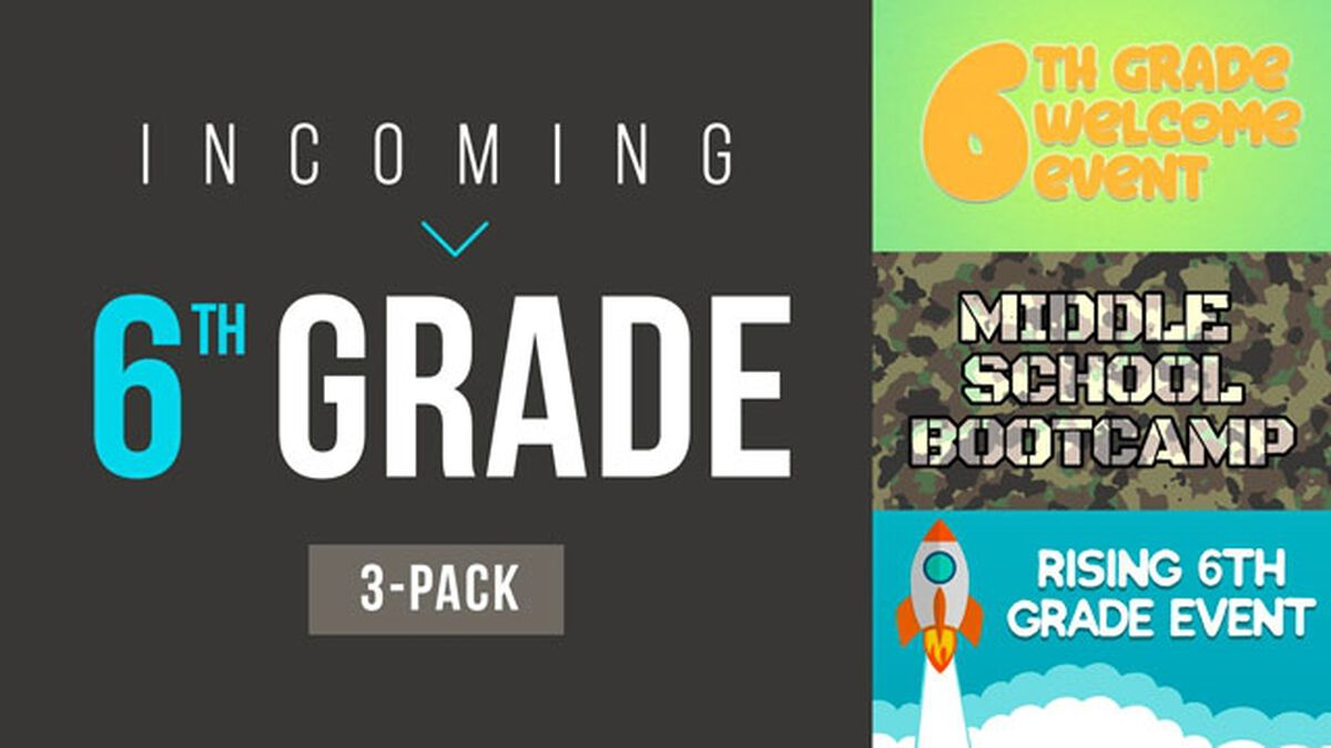 Incoming 6th Grade Bundle image number null